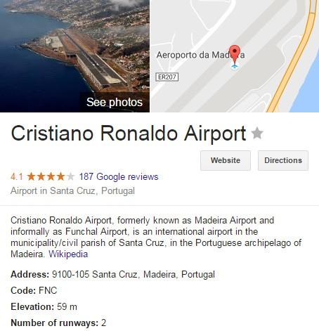 Ronaldo chính thức có sân bay xếp vào loại bậc nhất châu Âu