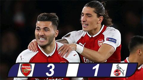 Arsenal bỏ túi 3 điểm sau khi hạ gục Cologne tại Europa League