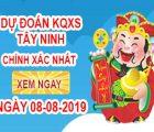 Soi cầu xổ số tỉnh Tây Ninh ngày 08/08 chính xác